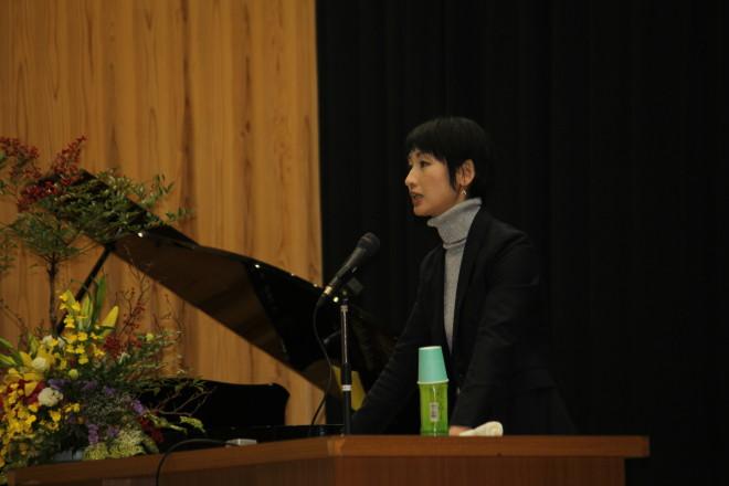 アナウンサー 松田朋恵さんの講演会がありました