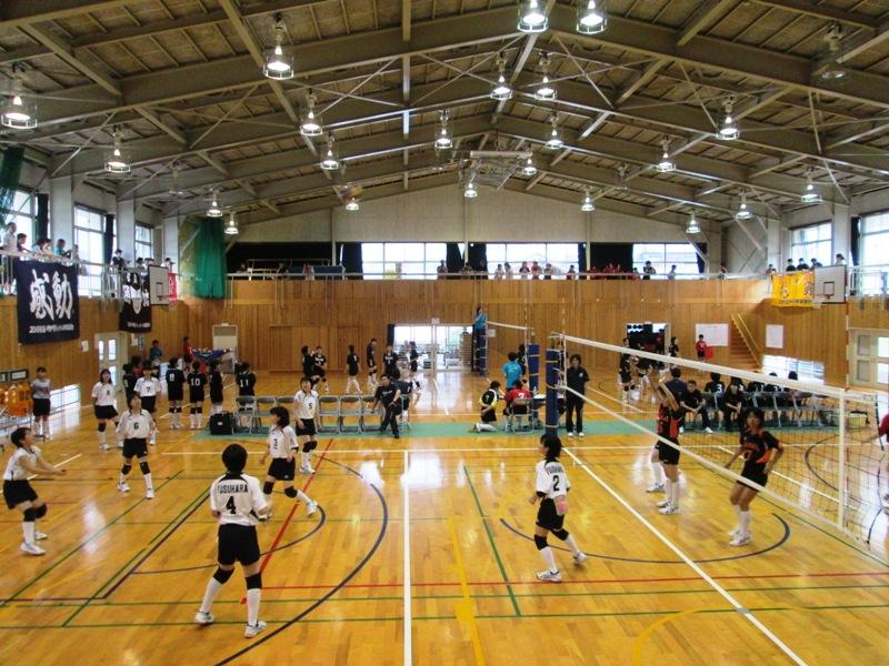 梼原中学校招待交流大会(バレーボール・バスケットボール)開催