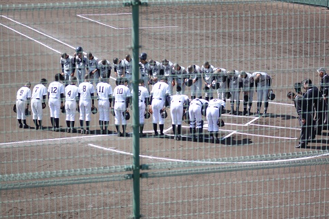 第70回高知県中学校選抜野球大会2回戦敗退