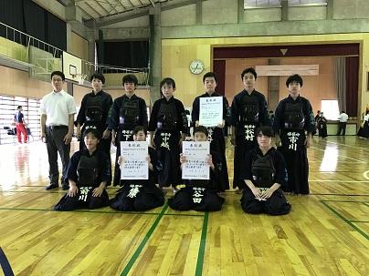 高岡地区総体剣道の部男子団体準優勝!!個人男女ベスト4