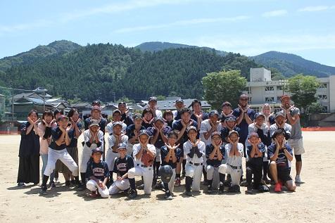 梼原学園野球部、アメリカの野球少年と交流