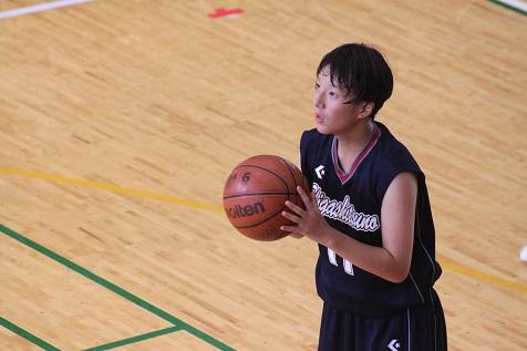 高吾地区中学校バスケットボール球技選手権大会女子3位(東津野中との合同チーム)
