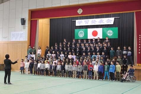 梼原学園(小学校)の学習発表会がありました。